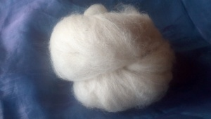 Carded alpaca fleece
